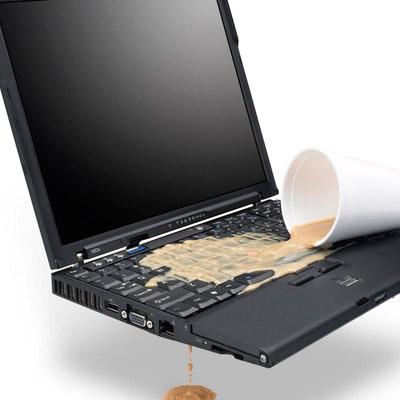 notebook sıvı teması